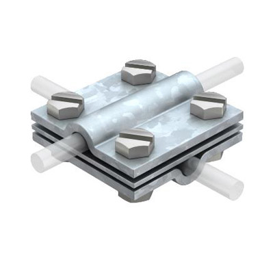 Cross connector with plate for Al Conductor - Eurolec Energy Products