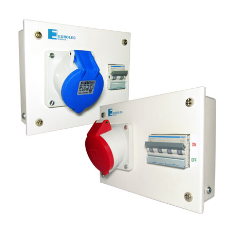 Metalic Enclosure with MCB and Industrial Sockets